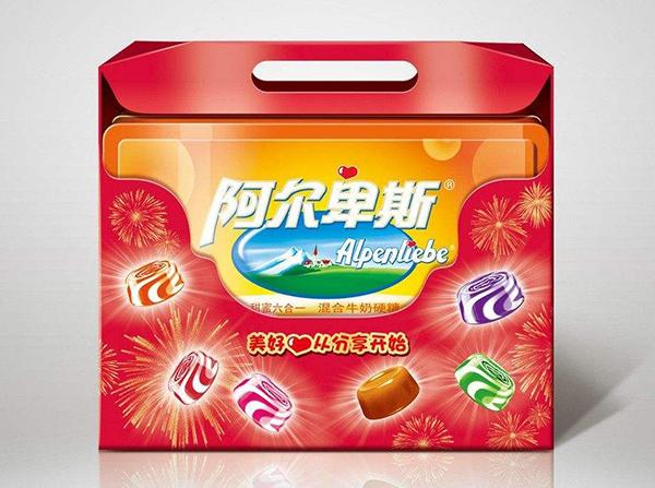 阿尔卑斯糖果包装盒展示图