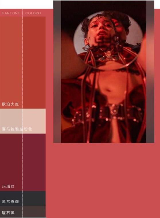 月光滤镜下的魔幻,2019/20秋冬女装色彩趋势(图5)