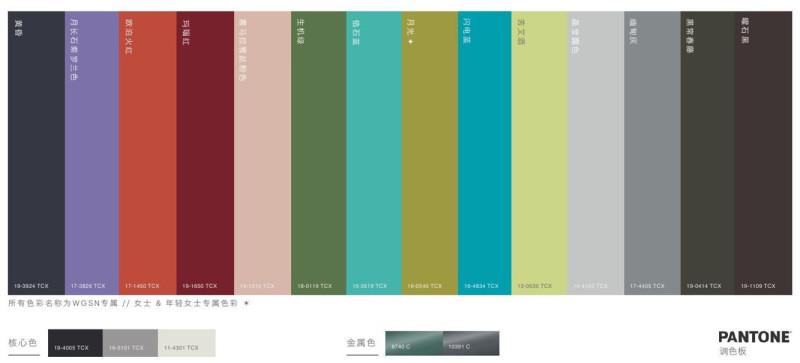 月光滤镜下的魔幻,2019/20秋冬女装色彩趋势(图3)